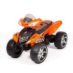 Электроквадроцикл с пультом Quad Pro Sport оранжевый (резиновые колеса, кожа, пульт, музыка)